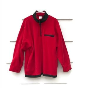 Old Navy 100% Polyester Red Fleece Light Jacket